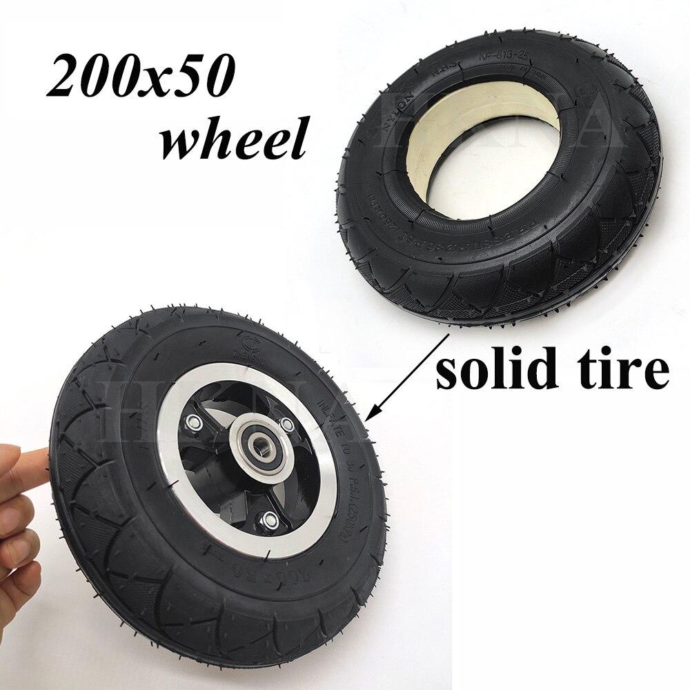 Pneu solide de la roue 200x50 pour le rasoir, Scooter électrique de dauphin roue solide antidéflagrante Non gonflable de 8 pouces