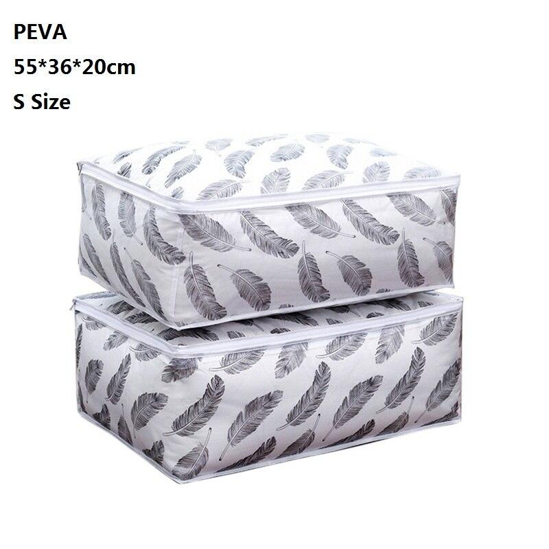 LOOZYKIT нетканый тканевый складной ящик для хранения Стёганое одеяло для сбора одежды чехол на молнии органайзер для хранения игрушек с прозрачным окном - Цвет: B3