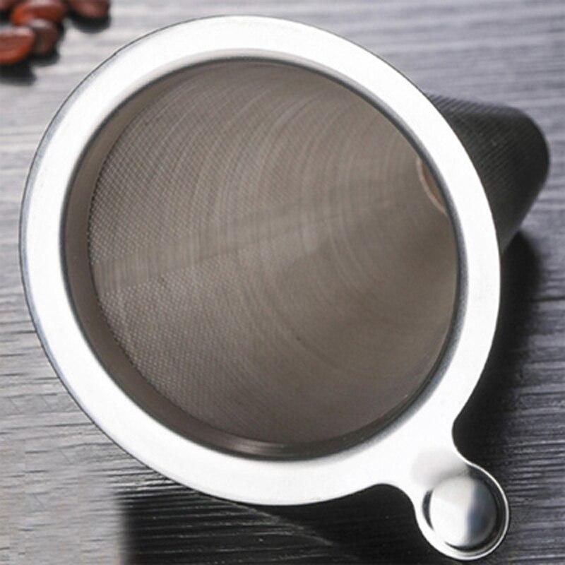 OHFIN двойной Слои Нержавеющаясталь держатель фильтра для кофе залить Воронка-дриппер для кофе сетка Кофе Чай фильтр корзины