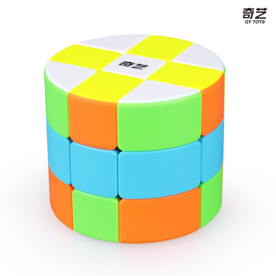QiYi Mofangge 3x3 Cylinder Type Magic Cube Puzzle Cube Cubo Magico Educational  Toys For Students - Colorful