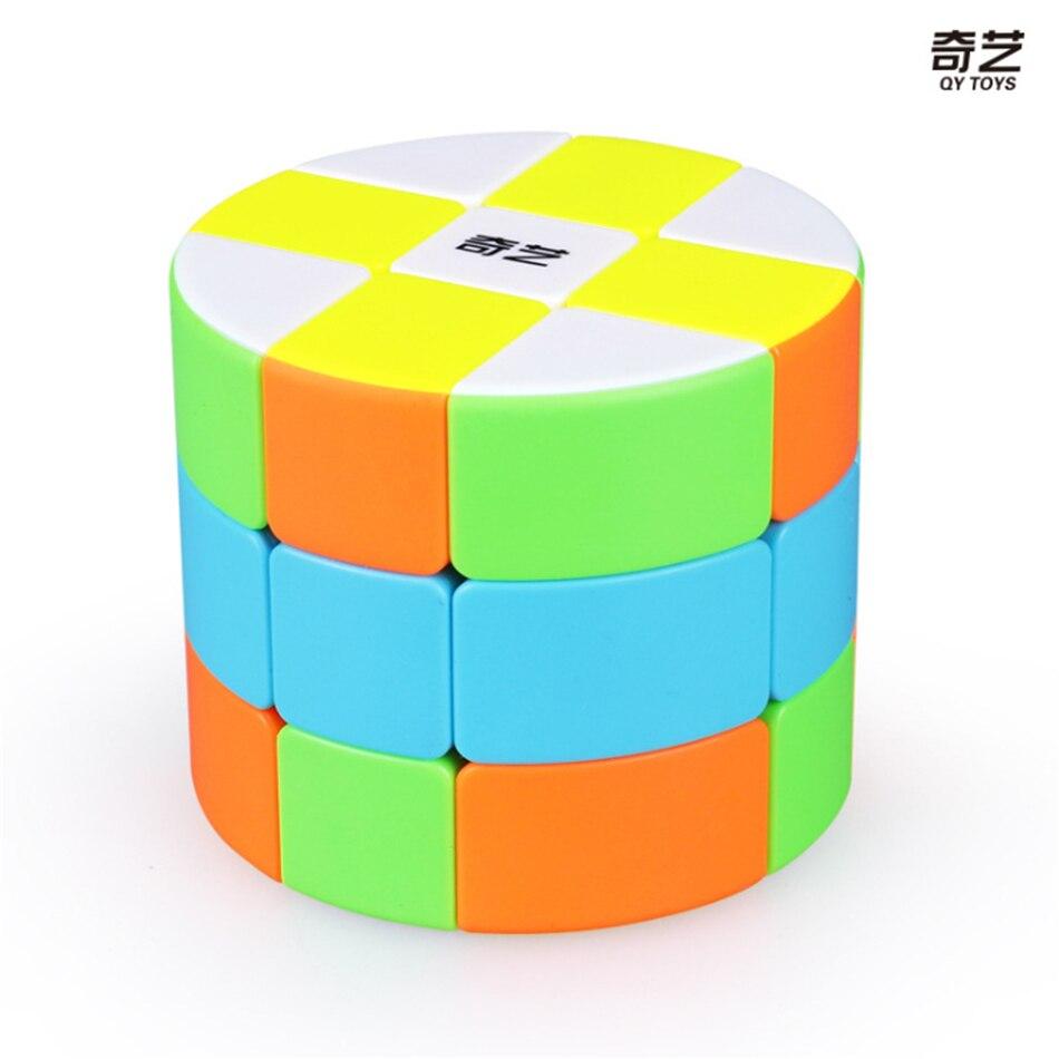 QiYi Mofangge 3x3 Cylinder Type Magic Cube Puzzle Cube Cubo Magico Educational  Toys For Students - Colorful