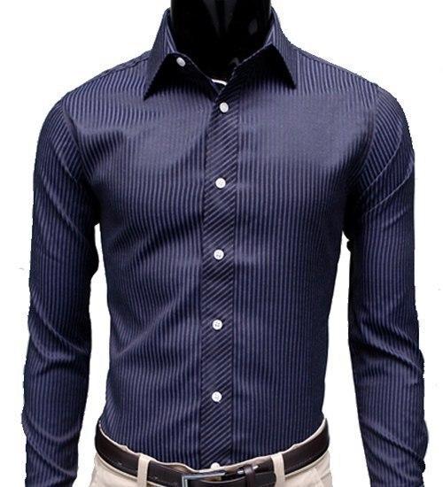 2020 Gentleman Stripe Long Sleeve Shirt Leisure Men's Casual Slim Long-sleeved Shirt Top Blouse Business Men Brand Clothing 2