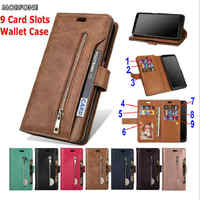 Luxury Zipper For Samsung Galaxy A30 A50 A70 A10 A20 A40 A60 A50S A30S A20E Wallet Leather Case M10 M20 M30 M40 Flip Stand Cover