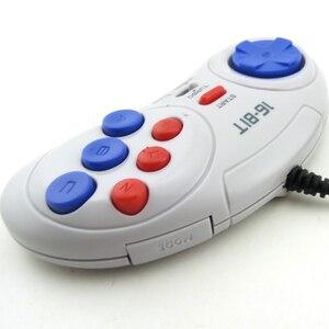Image 5 - 16 bit Classic Wired Game Controller for SEGA Genesis 6 Button Gamepad for SEGA Mega Drive Mode Fast Slow white