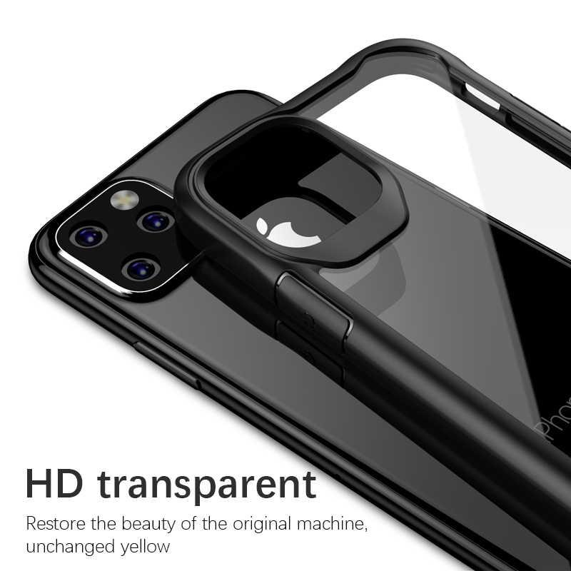 2 Pack Cristal Templado Protector de Pantalla Silicona Transparente TPU Anti-ara/ñazos Carcasa iPhone 11 Protector de Lente de C/ámara Leathlux Funda iPhone 11