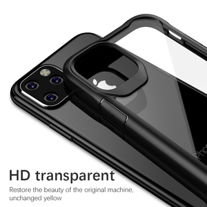 Image 5 - Luphie à prova de choque caso armadura para iphone 11 pro max transparente capa para iphone x xs xr max 6 7 8 plus caso de silicone luxo