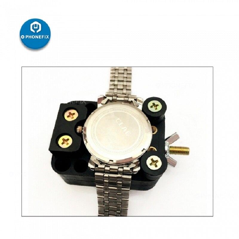 PHONEFIX Watch Adjustable Opener Back Case Cover Opener Remover Fixing Holder Watchmaker Repair Tools Watch Accessories