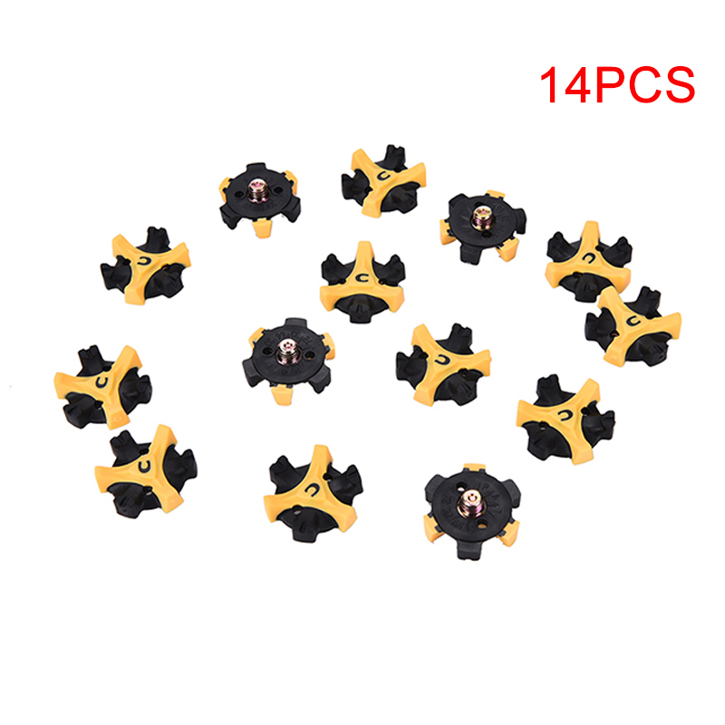 14 Pcs Golf Shoe Spike Replacement Cleat Champ Twist Screw Studs Anti Slip Golf Accessories Training Aids Shoe Spikes