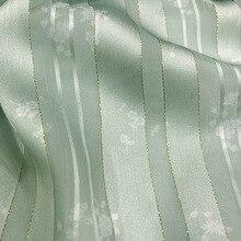 1M Meetee 150cm Gold and Silver Silk Chiffon Printed Fabric Ancient Style Hanfu Cloth Satin Cheongsam DIY Sewing Accessories