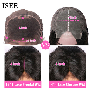 Image 5 - Straight HD Transparent Lace Front Wigs For Women ISEE HAIR Lace Closure Wig Malaysian Lace Frontal Wig Straight Human Hair Wigs