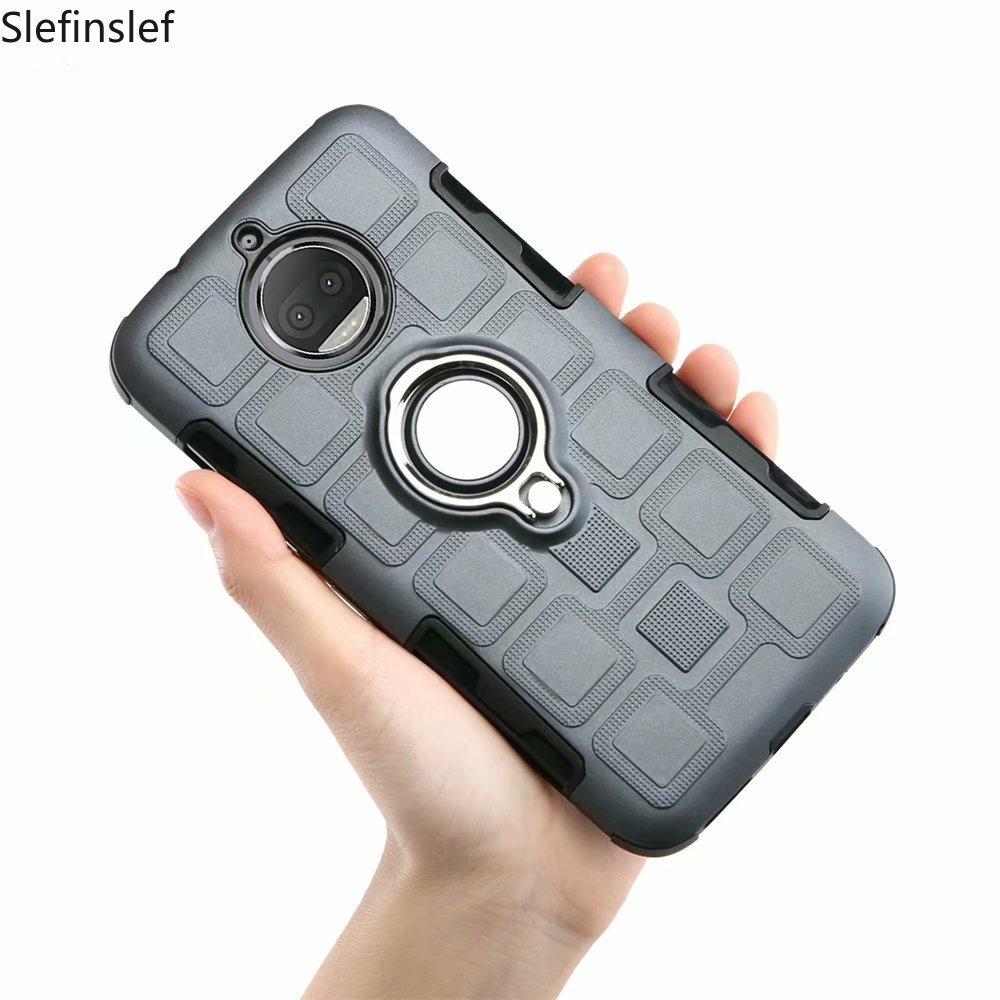 Case For Motorola Moto G6 G5 G5S G4 C X4 E4 E5 Z3 Play Plus Shockproof 2 In 1 Hard PC Silicone Phone Case Cover Shell Coque