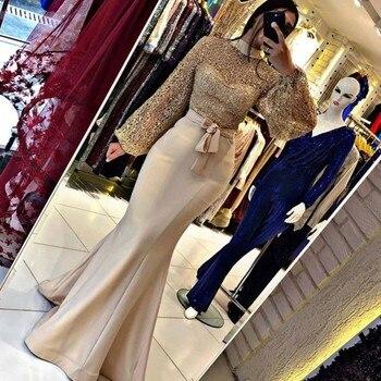 Muslim Woman Party Night Celebrity Dresses Evening Prom Dresses 2020 Long Mermaid Elegant Plus Size Arabic Dubai Formal Dress sexy elegant women formal gala party long dress plus size arabic muslim gold long sleeve evening prom dresses gown 2019