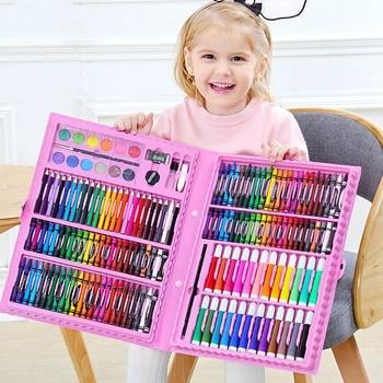 42-208Pcs Watercolor Drawing Set Colored Pencil Crayon Water Painting Kid Art Peinture Enfant Gifts Children Educational Toys 1