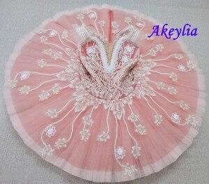 Image 5 - Tutu pour le ballet professionnel pour adultes, crème beige, tutu à fleurs, poupée féerique, classique, costume de scène rouge