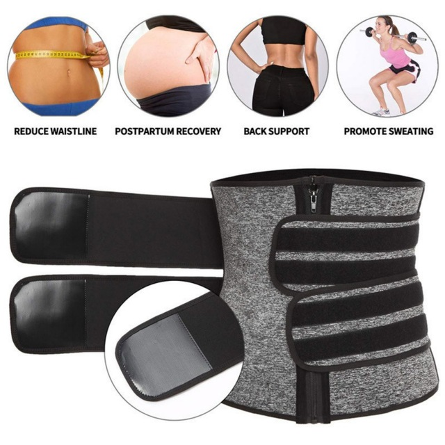 Waist Trainer Corset Sweat Belt For Women Weight Loss Compression Trimmer Workout Fitness 3
