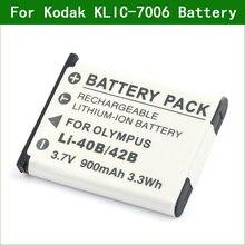 KLIC 7006 LB 012 מצלמה סוללה עבור Kodak Easyshare M530 M531 M550 M575 M580 מצלמה דיגיטלית FZ53 FZ51 FZ52 CZ52 FZS50 X52 SL5
