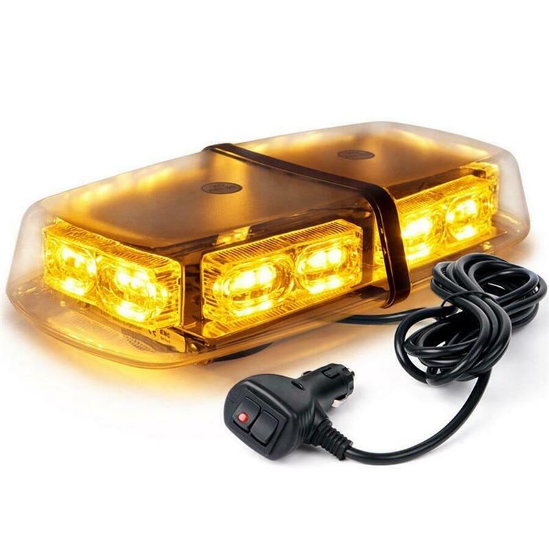 36 LED Flashing Warning LED Lights Roof Top Amber Yellow Car Light 12v Car Truck Emergency Flasher Warning Strobe Light Bar