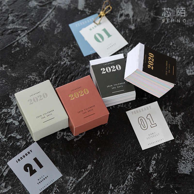 1 PC Kreatif Kesederhanaan 2020 Mini Kalender DIY Bullet Journal Stiker Belajar Jadwal Planner Tidak Lengket