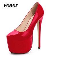 18 cm club size waterproof platform high heels Wedding shoes model runway shoes Code size 35 to 44