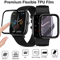 Pantalla película protectora Tpu para Amazfit GTS/2 /GTS / gts 2e inteligente ultrafino de la cubierta completa 3D suaves curvas Flexible HD Protector Transparente