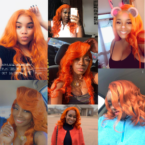 Image 2 - Remy Forte Body Wave Bundles With Closure Blonde Orange Remy Hair 3 4 Bundles With Closure Brazilian Hair Weave Bundles Fast USA