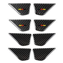 Carbon Fiber Car Interior Door Handle Bowl Cover Trim Stickers For Mercedes