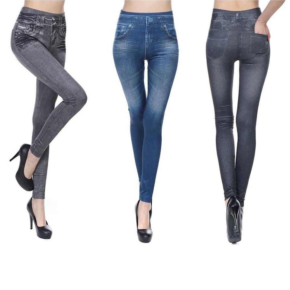 GECKATTE Pocketed Velvet Jeggings Women Elastic Plus Size Push Up Leggings High Waist Jegging Fit Slim Fitness Legging Jeans