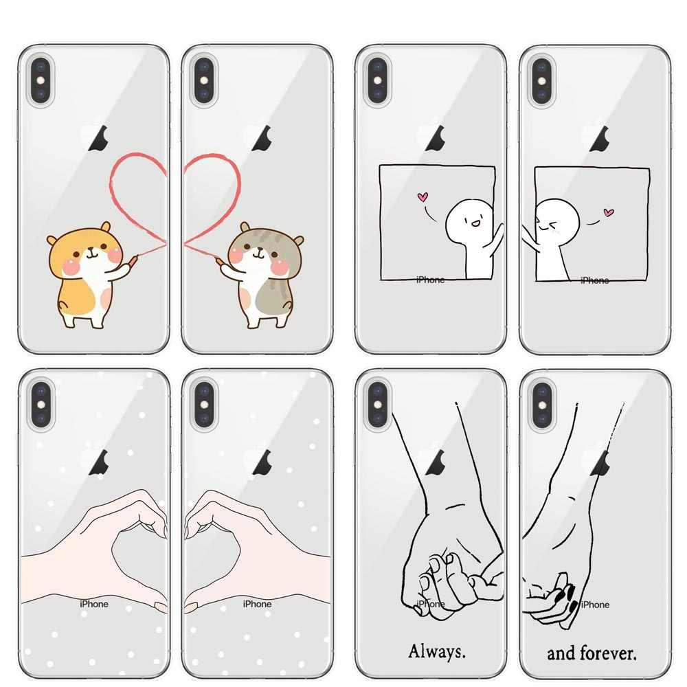 We will always be best friends BFF soft silicone TPU Phone Cases Cover For iPhone X 5 5S SE 6 6S Plus 7 8 Plus XS XR XS MAX