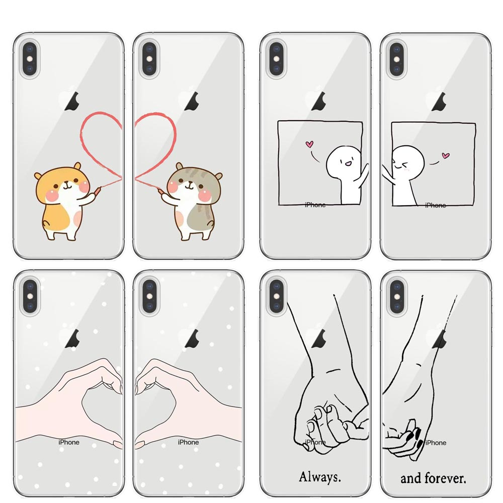 We will always be best friends <font><b>BFF</b></font> soft silicone TPU Phone <font><b>Cases</b></font> Cover For <font><b>iPhone</b></font> X 5 5S <font><b>SE</b></font> 6 6S Plus 7 8 Plus XS XR XS MAX image