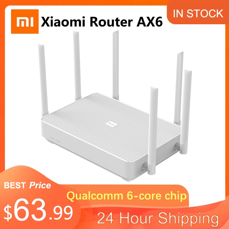 Новый Xiaomi Redmi роутер AX6 Wifi 6 Mesh Gigabit 2,4G/5,0 GHz двухдиапазонный беспроводной маршрутизатор усилитель сигнала 6 антенн с высоким коэффициентом уси...