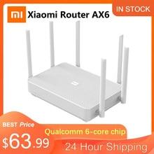 Novo xiaomi redmi roteador ax6 wifi 6 gigabit malha 2.4g/5.0ghz dupla-faixa sem fio roteador amplificador de sinal 6 antenas de alto ganho