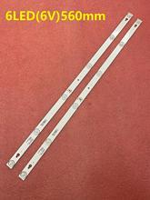 2 PCS 6LED LED תאורה אחורית רצועת עבור Toshiba TCL 32L2600 32L2800 32L2900 L32S4900S 32D2900 תומסון 32HB5426 LVW320CS0T TOT_32D2900