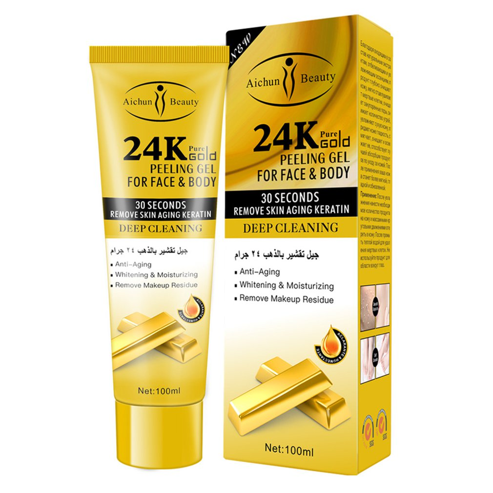24K Exfoliating Peel Gel Body Exfoliator Instantly Removes Dead Skin Cells Revealing Natural Exfoliant For All Skin