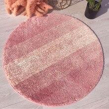 Скандинавский полосатый коврик для пола, ковры для гостиной, компьютерное кресло, вращающийся стул, корзина, Круглый, для йоги, журнальный столик, спальня, ковер для дома