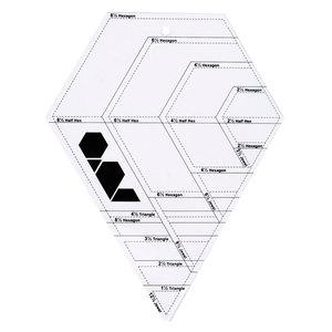 Image 4 - Lmdz 透明アクリル定規 45 度ダイヤモンド定規パッチワーククラフトキルティング定規切断定規スケールホーム縫製ツール