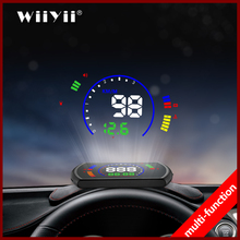 GEYIREN S600 head up display car hud car speed projector OBD interface HUD speed RPM voltage water temperature Fuel cosumption