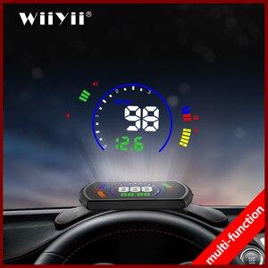 Image 1 - Pantalla head up GEYIREN S600, proyector de velocidad de coche hud, interfaz OBD, velocidad HUD, voltaje RPM, temperatura del agua, consumo de combustible