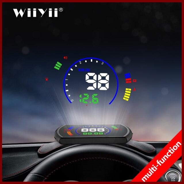 Pantalla head up GEYIREN S600, proyector de velocidad de coche hud, interfaz OBD, velocidad HUD, voltaje RPM, temperatura del agua, consumo de combustible
