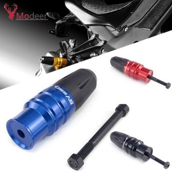 For SUZUKI SV650/S SV 650 S SV650S Motorcycle Accessories CNC Black Aluminum Crash Pads Exhaust Sliders Crash Protector sv650 s rgv250 rf600r cnc