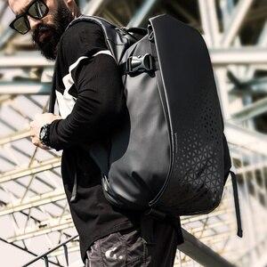 Image 5 - Tangcool erkek moda sırt çantası 17.3 inç Laptop sırt çantası su geçirmez USB yeniden şarj edilebilir açık sırt çantası günlük okul sırt çantası