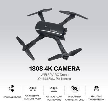 1808 WiFi FPV RC Drone 4K Camera Optical Flow Positioning HD Dual Camera Aerial Video RC Aircraft Airplane Kids Toys