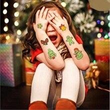 8 Pcs/Set Halloween Cartoon Waterproof Temporary Luminous Tattoo Stickers Night Glow Ghost for Adults Kids