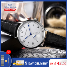Men's Watch Mechanical-Watch Seagull Manual Official Simple Ultra-Thin Business Brand