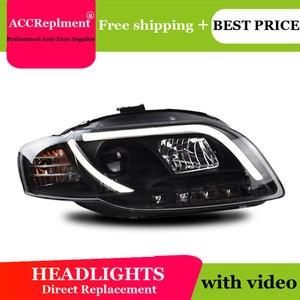 Image 5 - עבור אאודי A4 B7 2005 2008 פנסים כל LED פנס DRL דינמי אות Hid ראש מנורת Bi קסנון קרן אביזרי רכב סטיילינג