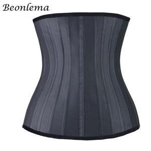Image 3 - Beonlema 25 Steel Bone Waist trainer Stomach Slimming Belt Modeling Straps Corset Latex Waist Cincher Body Shaper Faja Reductora
