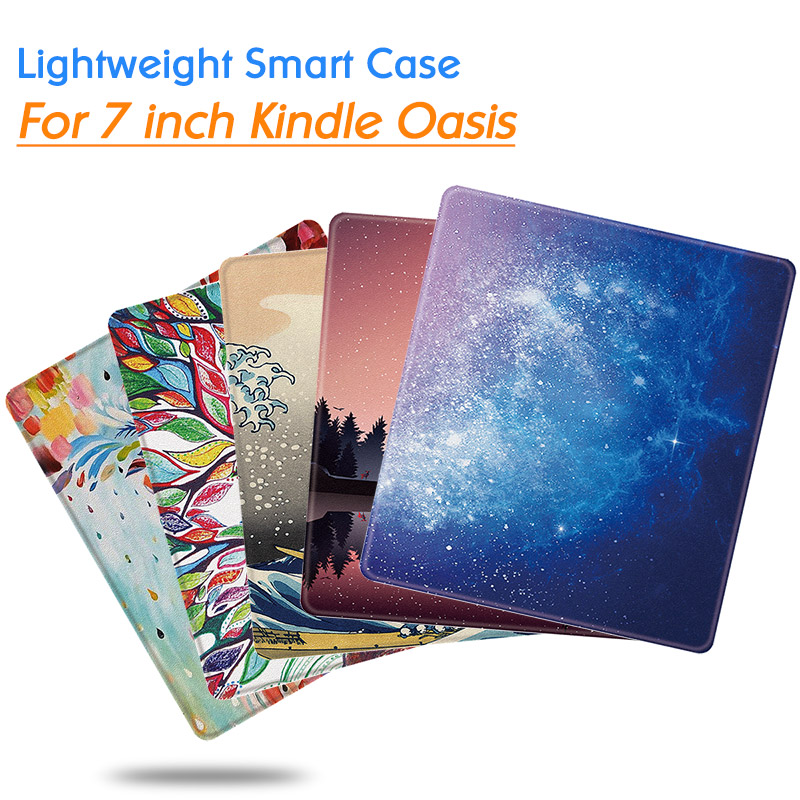 Case For Kindle Oasis 7 Inch EReader (9th/10th Generation,2017/2019 Release) - Lightweight Cover With Auto Wake Sleep Function