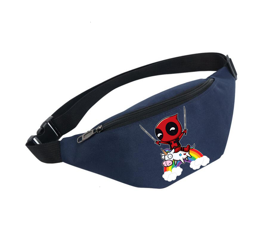 Belly Bags Unisex Fanny Pack Women Belt Waterproof Chest Handbag Waist Bag Ladies Waist Pack For Anime Deadpool