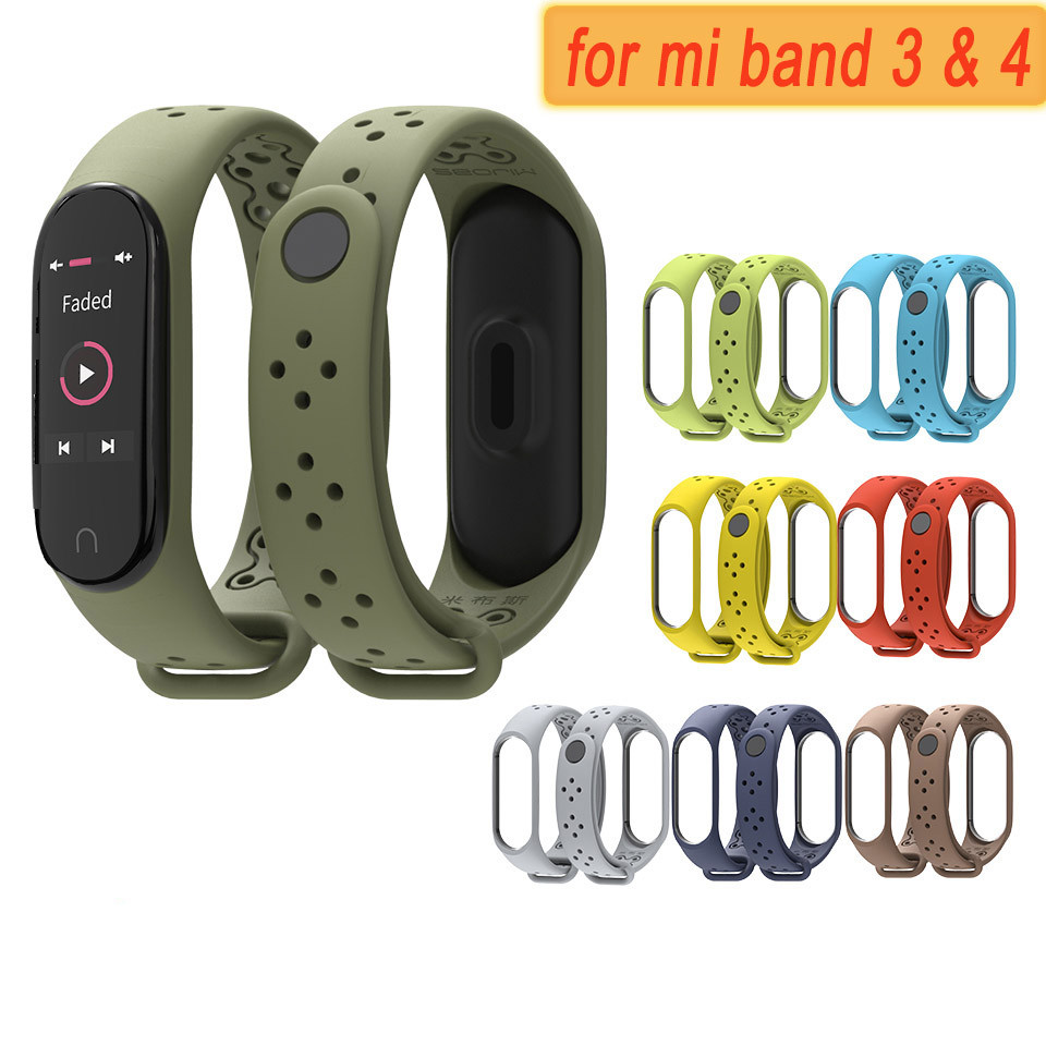 <font><b>MI</b></font> <font><b>3</b></font> watch <font><b>band</b></font> <font><b>Wristband</b></font> <font><b>Strap</b></font> for Xiaomi <font><b>MI</b></font> <font><b>band</b></font> <font><b>3</b></font> <font><b>4</b></font> watchband <font><b>Bracelet</b></font> Replacement <font><b>silicone</b></font> sport <font><b>straps</b></font> smart Accessories image