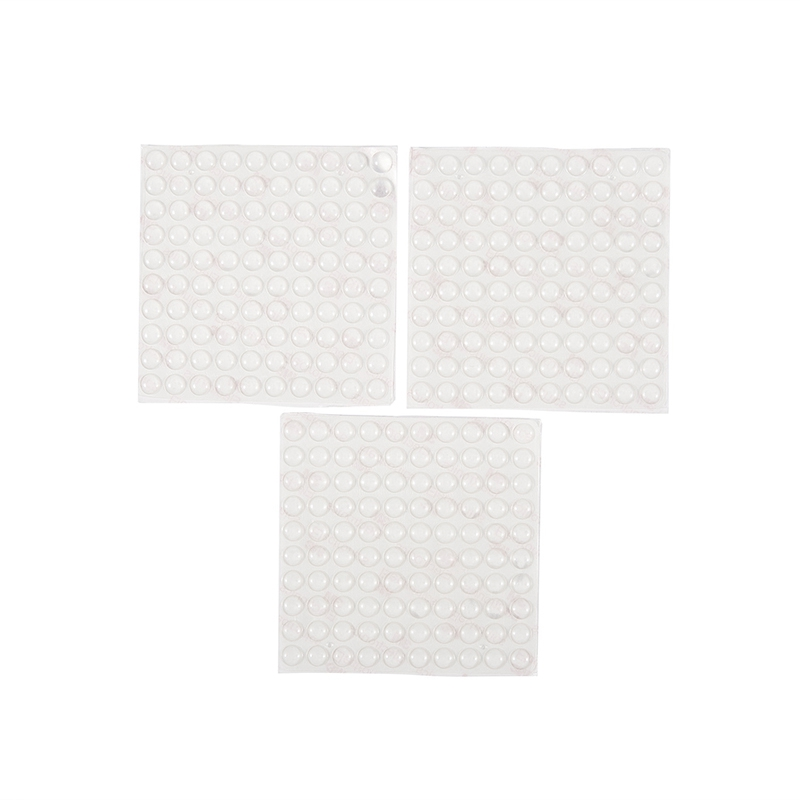 300 Pieces Clear Rubber Feet Adhesive Door Bumpers Pads Sound Dampening Cabinet Buffer Pads, 8.5 By 2.5 Mm