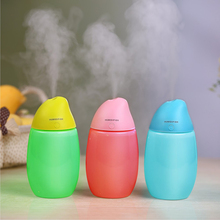 400ml Mango USB Air Humidifier LED Lights Ultrasonic Car Humidifiers Mist Maker Mini Desktop Fruit Air Purifier gxz energy bottle usb ultrasonic humidifier 1200mah battery led lights air humidifiers mist maker mini home cup air purifier